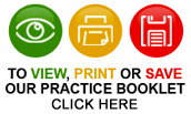 To view, print or save our practice booklet, click here